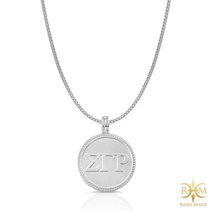ΣΓΡ Circle Pendant with Chain