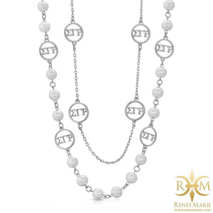 "ΣΓΡ 36"" Station Necklace"