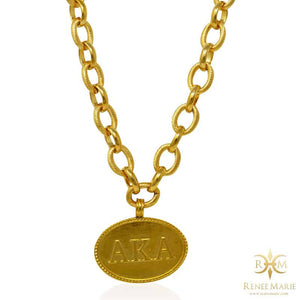 "AKA ""Classic Gold"" Stainless Steel Necklace"