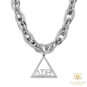 "DST ""Techno Silver"" Stainless Steel Necklace"