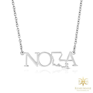NOLA Stainless Steel Necklace (Outline)