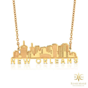 NOLA Skyline Stainless Steel Necklace