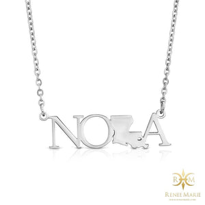NOLA Stainless Steel Necklace (Solid)