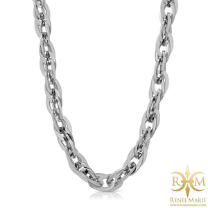 """Techno Silver"" Stainless Steel Necklace"