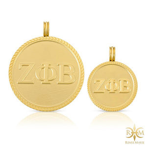 ZΦB Circle Pendant with Chain