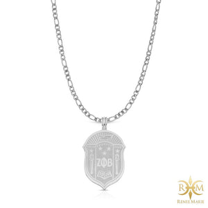ZΦB Shield Pendant with Chain