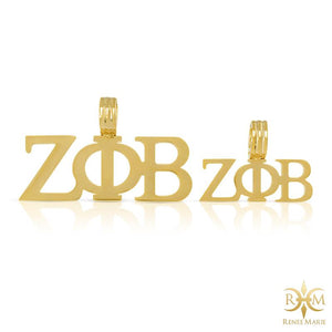 ZΦB Hollow Symbols Pendant with Chain