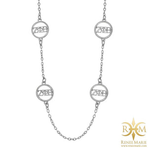"ZΦB 36"" Station Necklace"