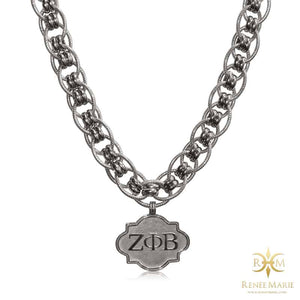 "ZΦB ""Jazz"" Stainless Steel Necklace"