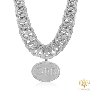 "ZΦB ""Pop"" Stainless Steel Necklace"