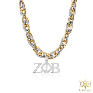 "ZΦB ""Techno Fusion"" Stainless Steel Necklace"