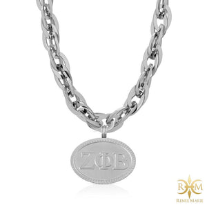 "ZΦB ""Techno Silver"" Stainless Steel Necklace"