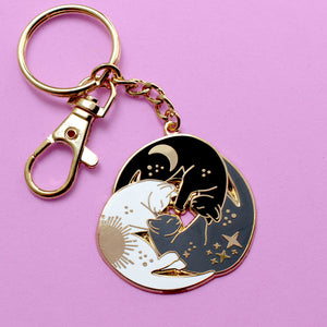 Trio of cats keychain