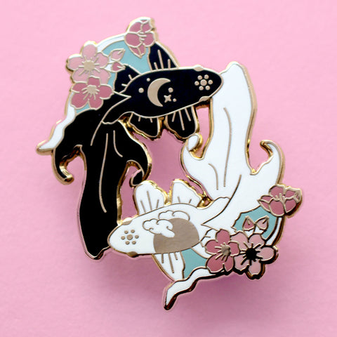 Fish enamel pin