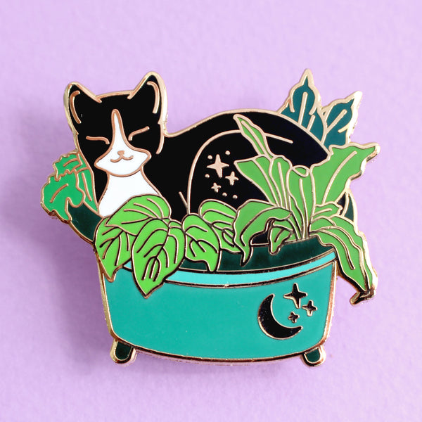 Plant Pot Cat Hard Enamel Pin