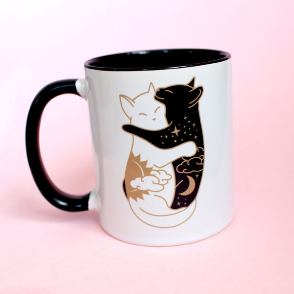 Hugging Cats Mug