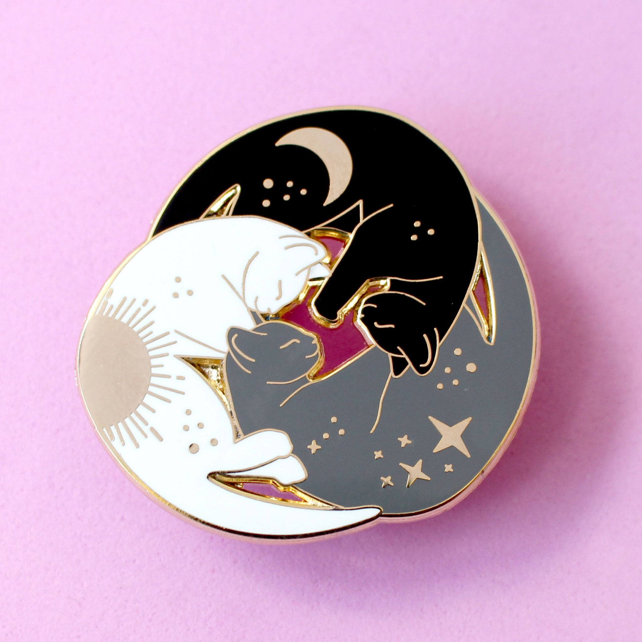 Trio of cats enamel pin