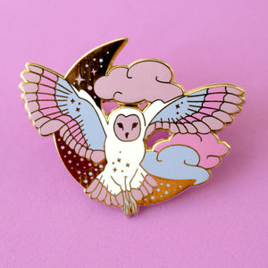 The Midnight Owl enamel pin