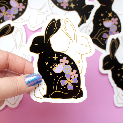 Flower Rabbits Sticker