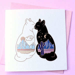 Desert cats card