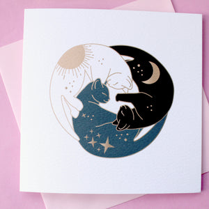 Trio of cats card