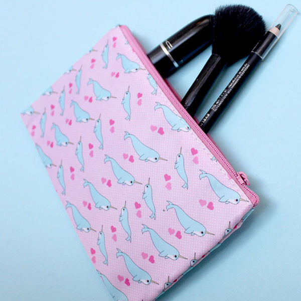 Small Narwhal Cosmetics Bag