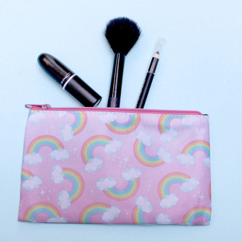 Small Rainbow Cosmetics Bag