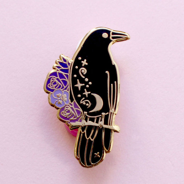 Crow Hard Enamel Pin