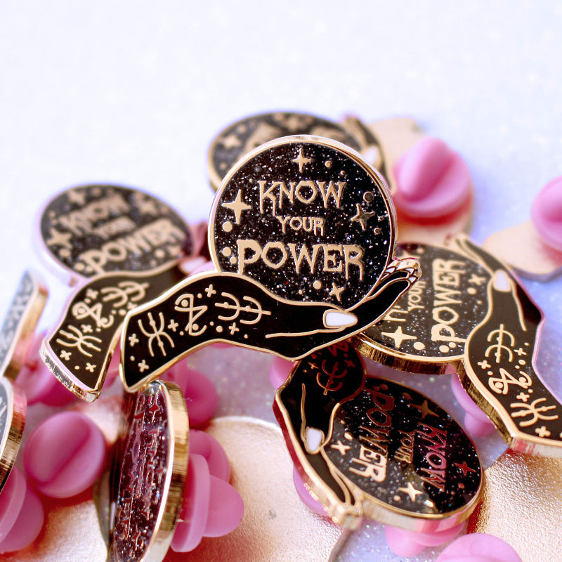 Know your Power Enamel Pin