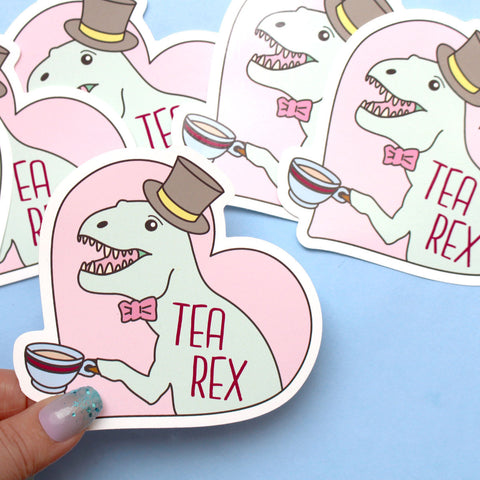 Tea Rex Sticker
