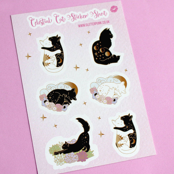 Cat sticker set
