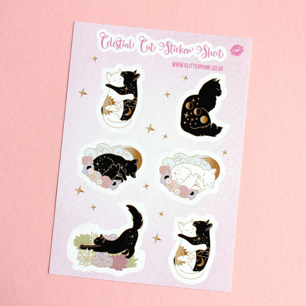 Celestial Cat sticker set