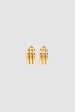 Load image into Gallery viewer, TRIPLE GOLD EARRINGS