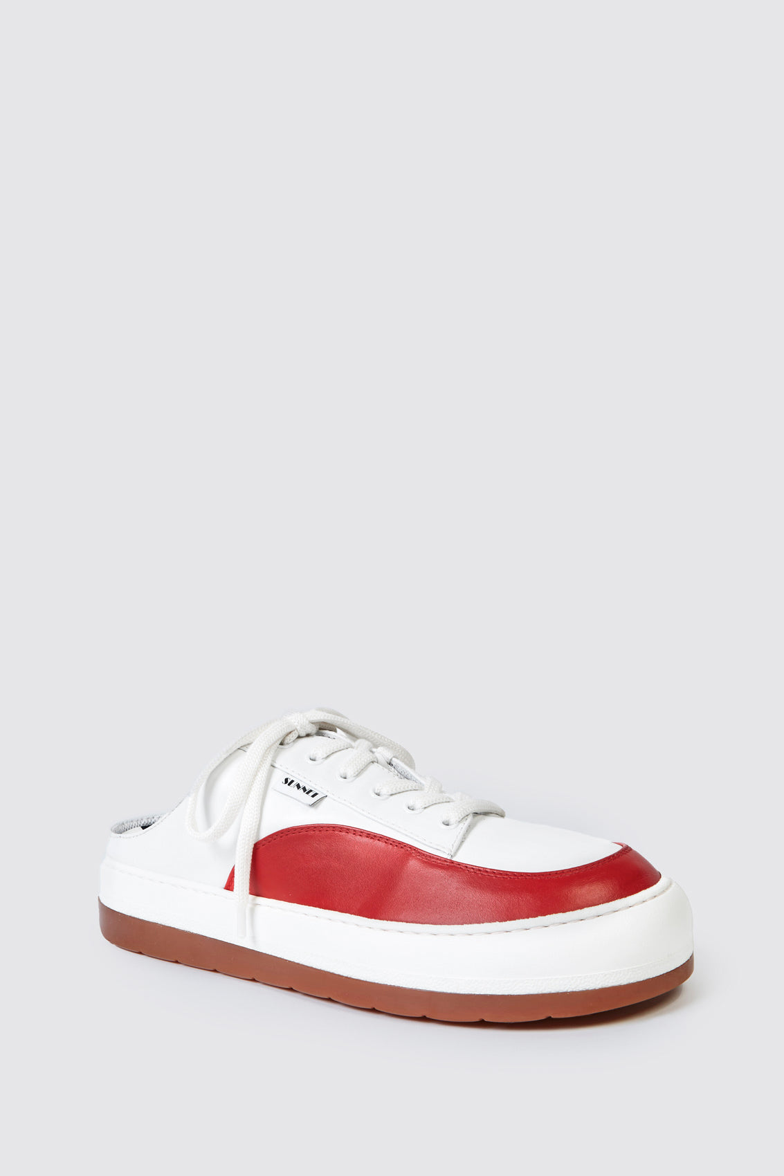 WHITE & RED LEATHER DREAMY SABOT
