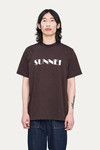 BROWN T-SHIRT WITH LOGO