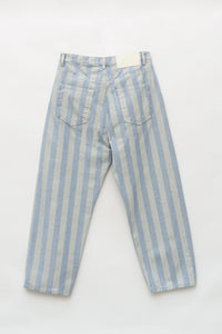 STRIPED WASHED DENIM CLASSIC PANTS