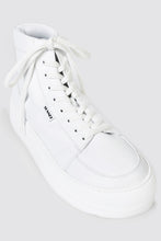 Load image into Gallery viewer, TOTAL WHITE LEATHER HIGH TOP DREAMY