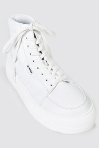 TOTAL WHITE LEATHER HIGH TOP DREAMY