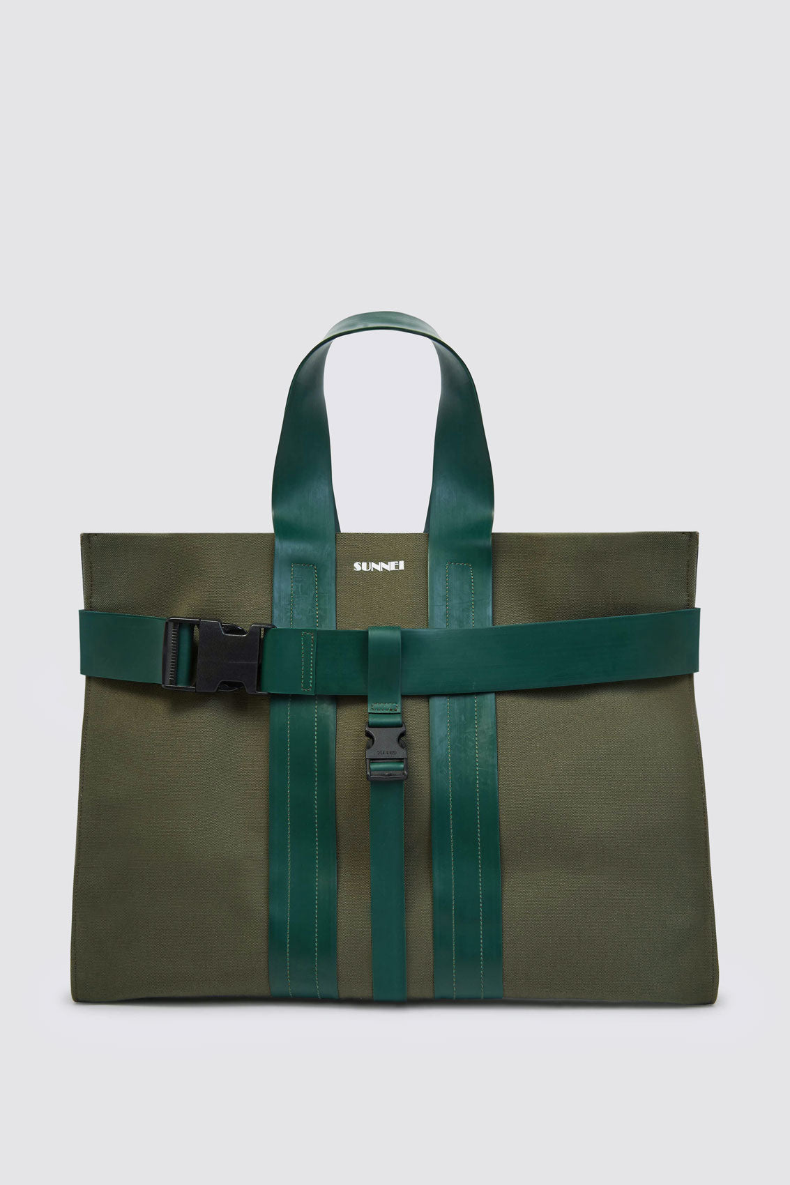 MILITARY GREEN MESSENGER PARALLELEPIPEDO BAG