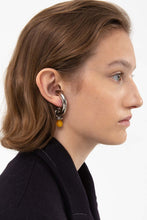 Load image into Gallery viewer, YELLOW SMALL DUMMY SILVER EARRINGS