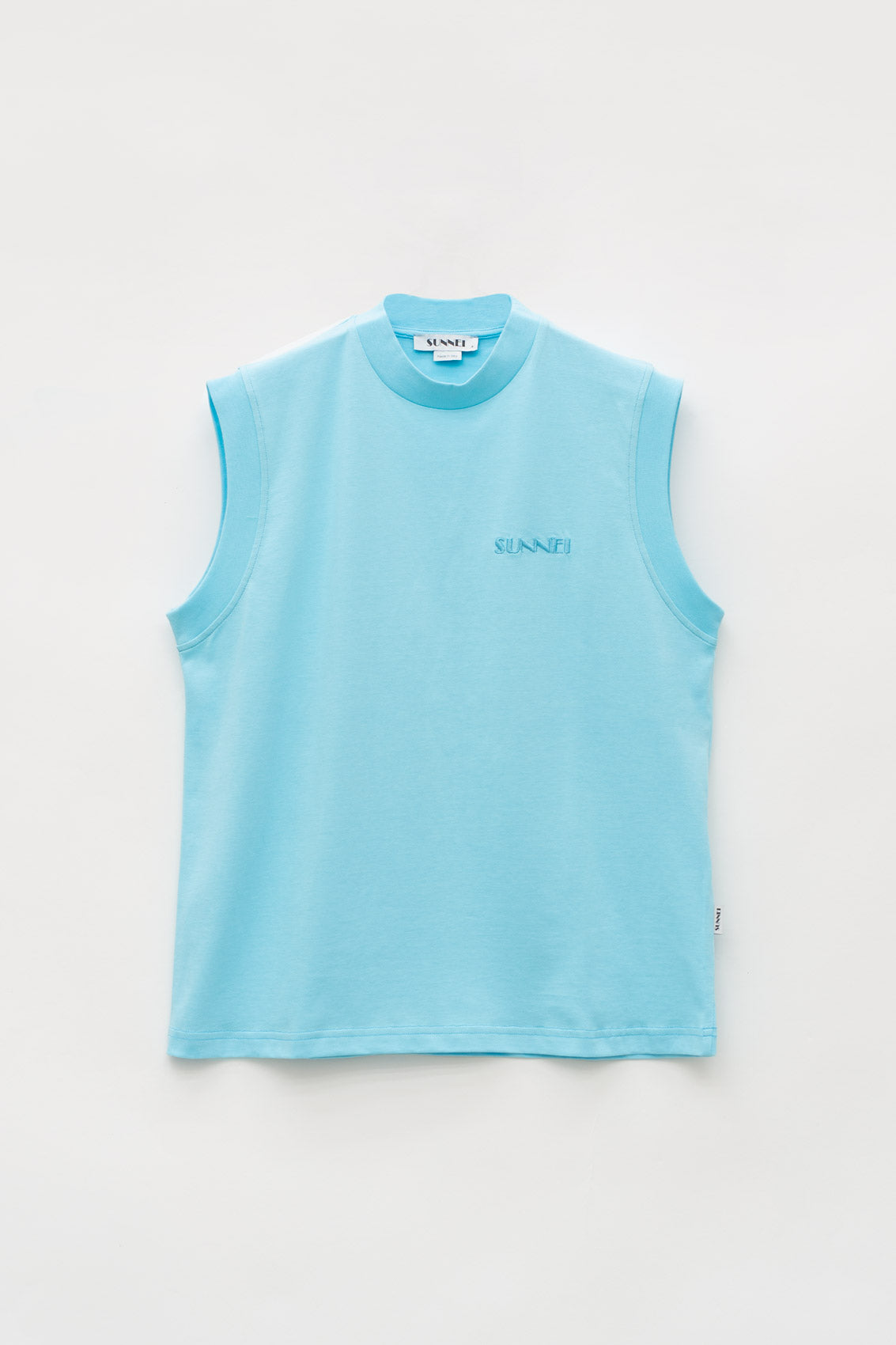 AZURE TANK TOP WITH LOGO
