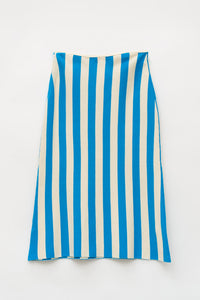 AZURE STRIPES KNIT SKIRT