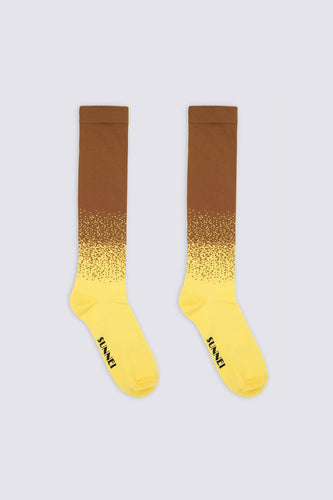 YELLOW & BROWN SOCKS