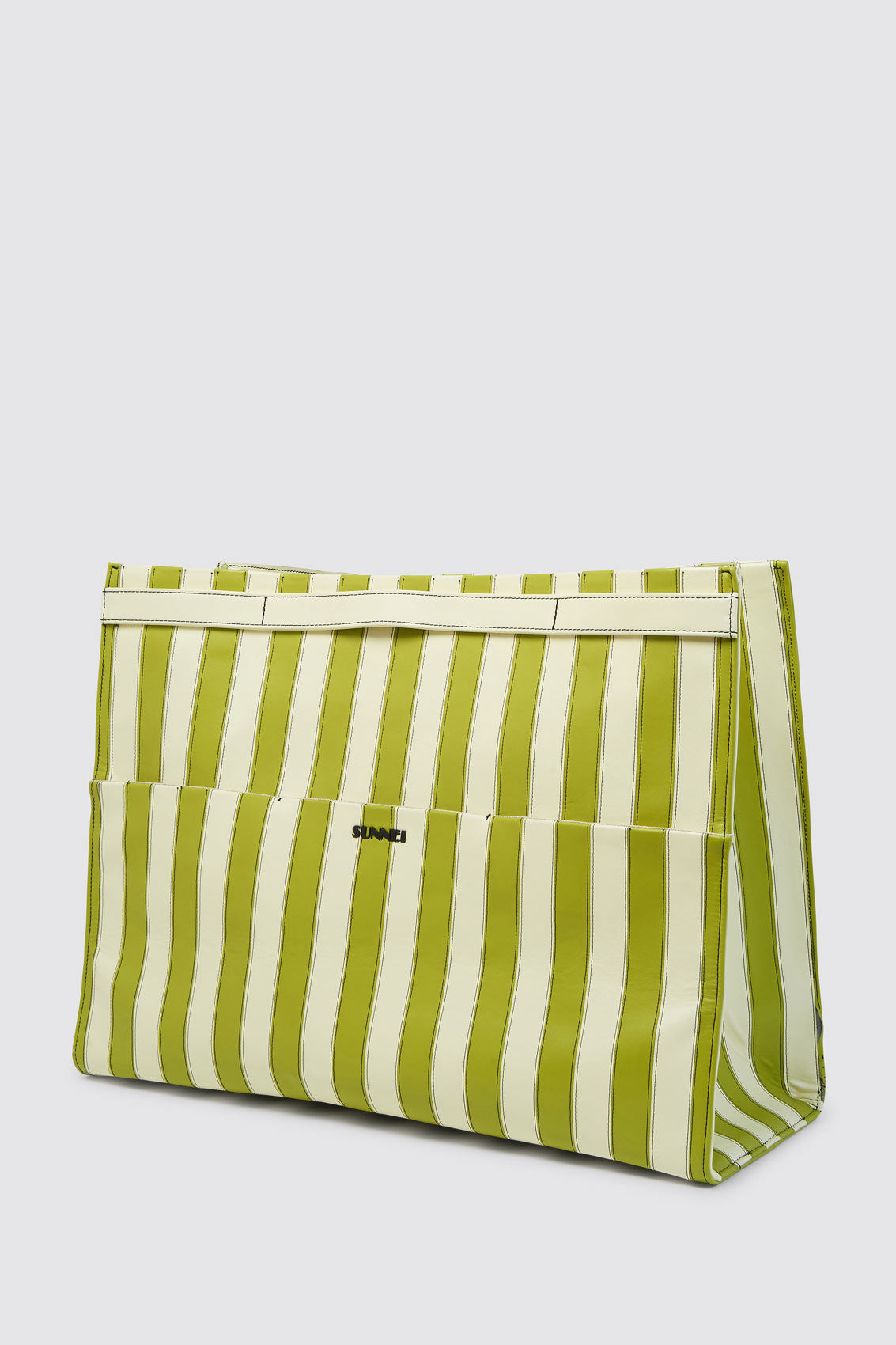 BANANA & LIGHT GREEN PARALLELEPIPEDO BAG