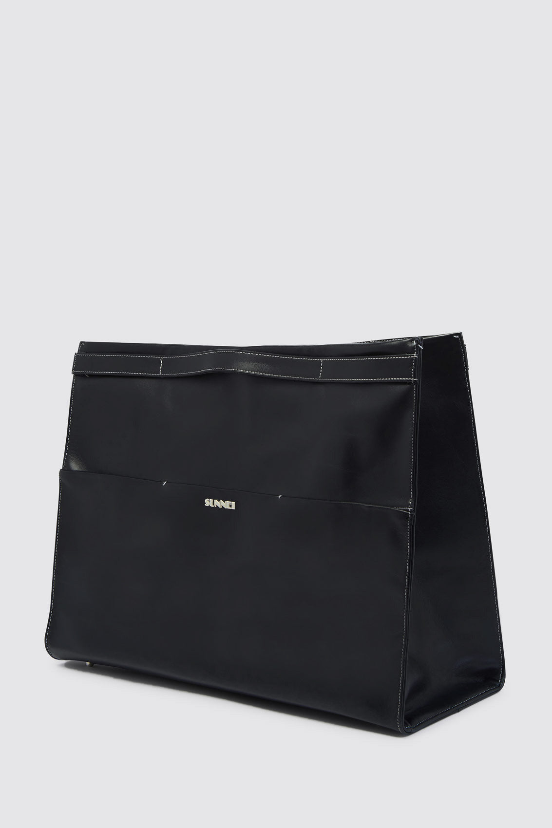 BLACK PARALLELEPIPEDO BAG