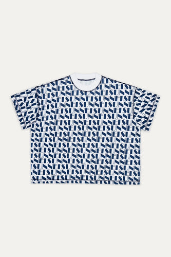 BLUE & WHITE REVERSIBLE T-SHIRT