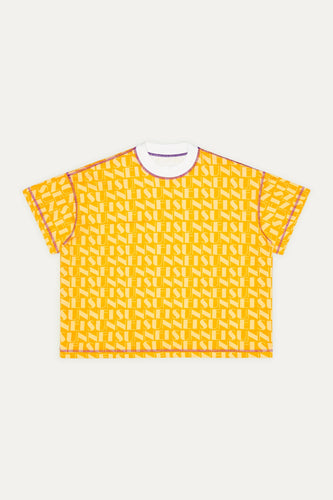 YELLOW & PURPLE REVERSIBLE T-SHIRT