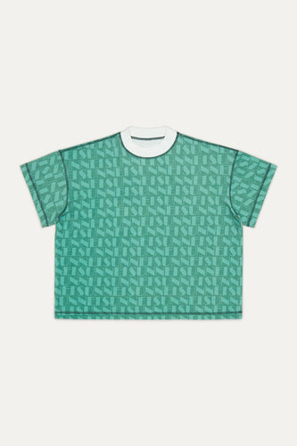 GREEN & OLIVE REVERSIBLE T-SHIRT