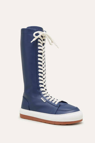 BLUE LEATHER DREAMY BOOTS