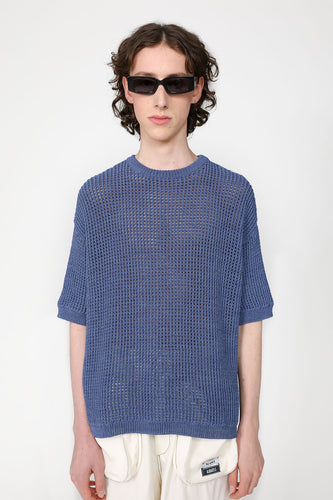 BLUE OVER KNIT T-SHIRT